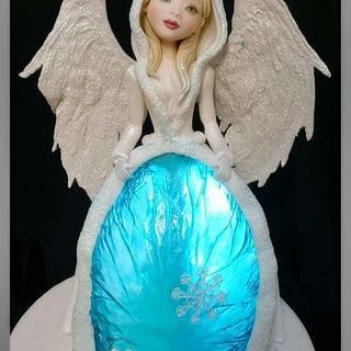 Winter blue angel