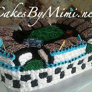 Racetrack Cake - Cake by Emily Herrington