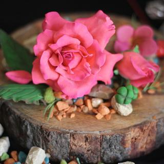 Bean Paste Rose - Cake by Ruchi Gupta Cookery Classes