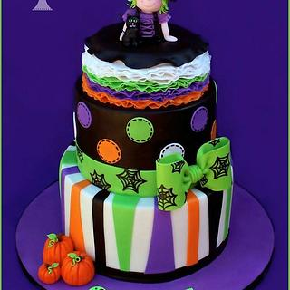 Girly Halloween Cake + Smash Cake