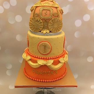 Indian princess carriage cake