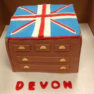 Union Jack Dresser Cake