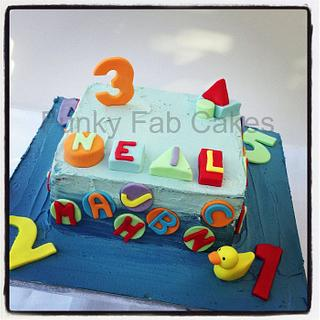 Boys buttercream numbers, letters and shapes