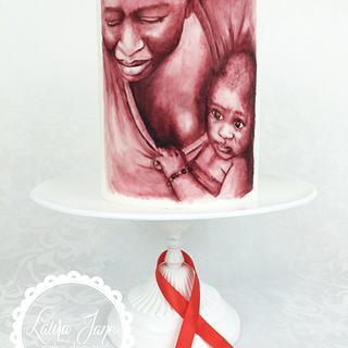 UNSA Team red - Handpainted Cake