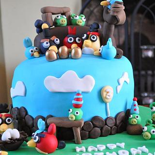 Angry Bird Cake for Henry