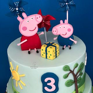 Peppa pig cake - Cake by Mariana Frascella