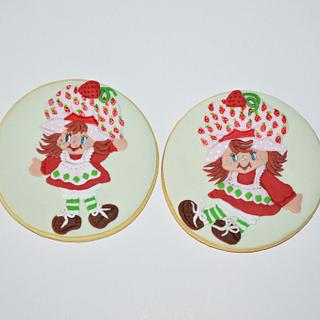 Vintage Strawberry Shortcake cookies