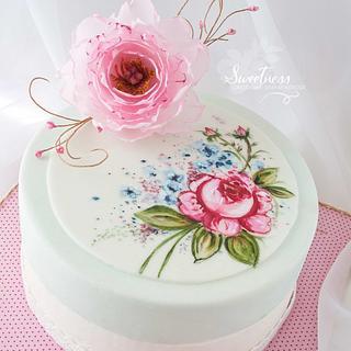 Shabby Chic painted Cake