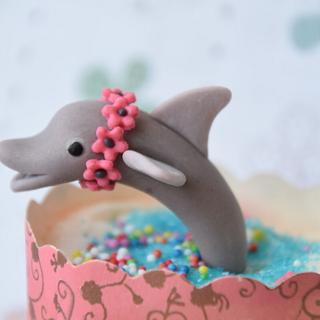 Dolphin Fondant Topper