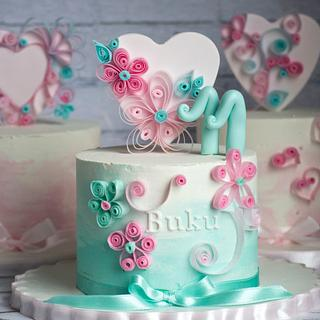 Quilling inspired cakes