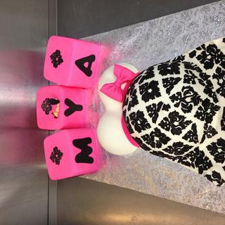 Damask Belly cake