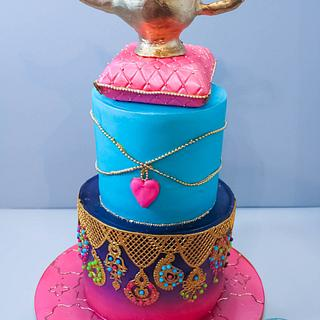 genie in the lamp - Cake by Not Your Ordinary Cakes