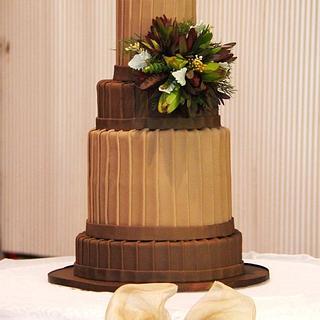 Australian Chocolate Wedding Cake - Cake by Jo Kavanagh