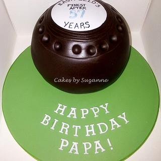 lawn bowls ball - Cake by suzanneflynn