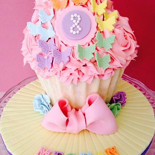 Giant Butterfly Cupcake