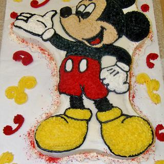 Mickie Mouse buttercream cake - Cake by Nancys Fancys Cakes & Catering (Nancy Goolsby)