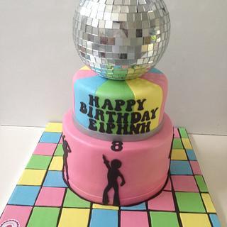 Mama mia disco cake