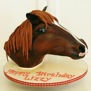 Horse's head bust