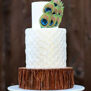 Bark, Peacock & Scales Cake