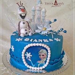 Frozen & Olaf - Cake by Tortolandia