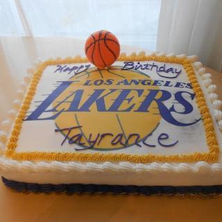 Lakers Fan Cake - Cake by Michelle Allen