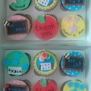 Thank you teacher Cupcakes - Cake by SugarMagicCakes (Christine)