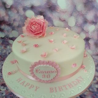 Peony cake.