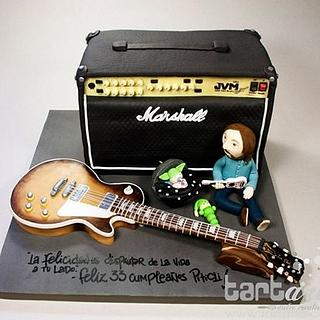 Marshall and Gibson Les Paul Cake by www.tartarte.com
