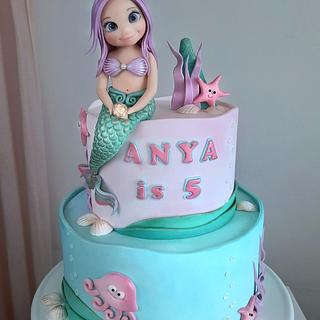 Mermaid girl - Cake by Couture cakes by Olga