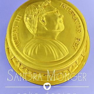 Roman Coin Cake - Cake by Sandra Monger