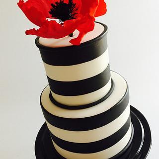 Splash of poppy red and stripes