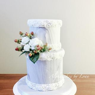 Engagement Cake - Cake by AlphacakesbyLoan