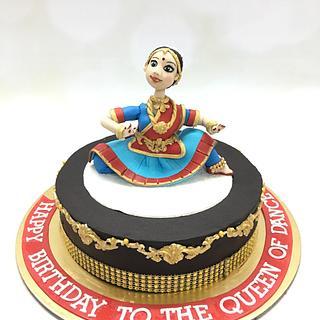 Bharatnatyam cake
