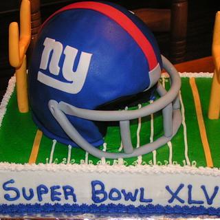 Giants Super Bowl cake