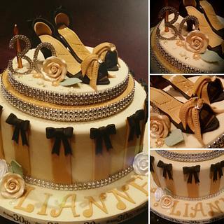 Shoe 30th birthday cake