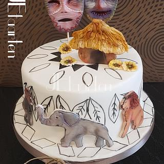Africa birthday cake - Cake by Judith-JEtaarten