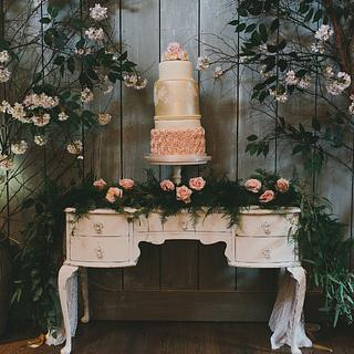 Wedding cake by The Little Cupcakery