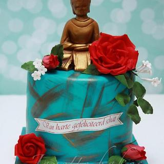 Buddha cake with roses