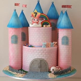 High up in the rainbow–Melody's castle.