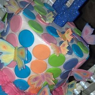 Birthday Butterflies - Cake by Debbie