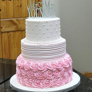 Wedding Cake in Pink