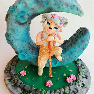 Faun cake art