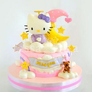 Hello Kitty Angel - Cake by tessatinacakes