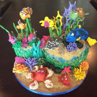 Finding Nemo Cake - Cake by WooLaLa
