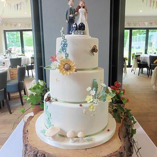 Countrystyle wedding cake - Cake by Helen Alborn