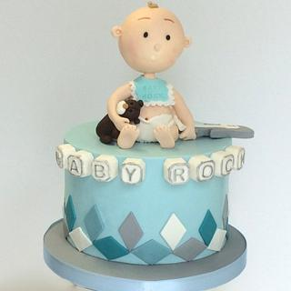 Baby Rock Shower Cake - Cake by Sweet Factory