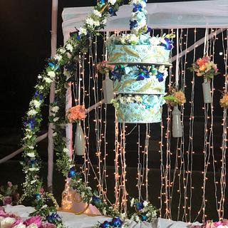 My sister's wedding cake  - Cake by Michelle's Sweet Temptation