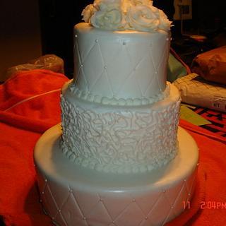 Three tier practice wedding cake - Cake by Dana