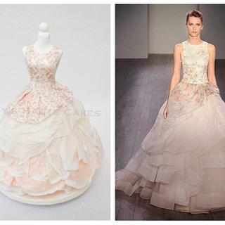 Lazaro Bridal Wedding Dress Cake Brides Around the World Cake Collaboration
