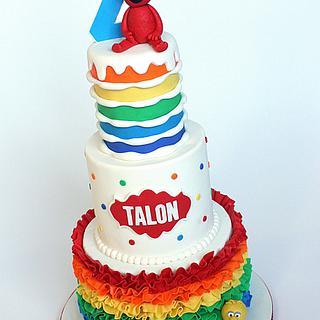 Sesame Street Rainbow Cake